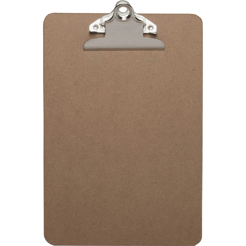 "Clipboard, 6"" X 9"" Hardboard, Brown"