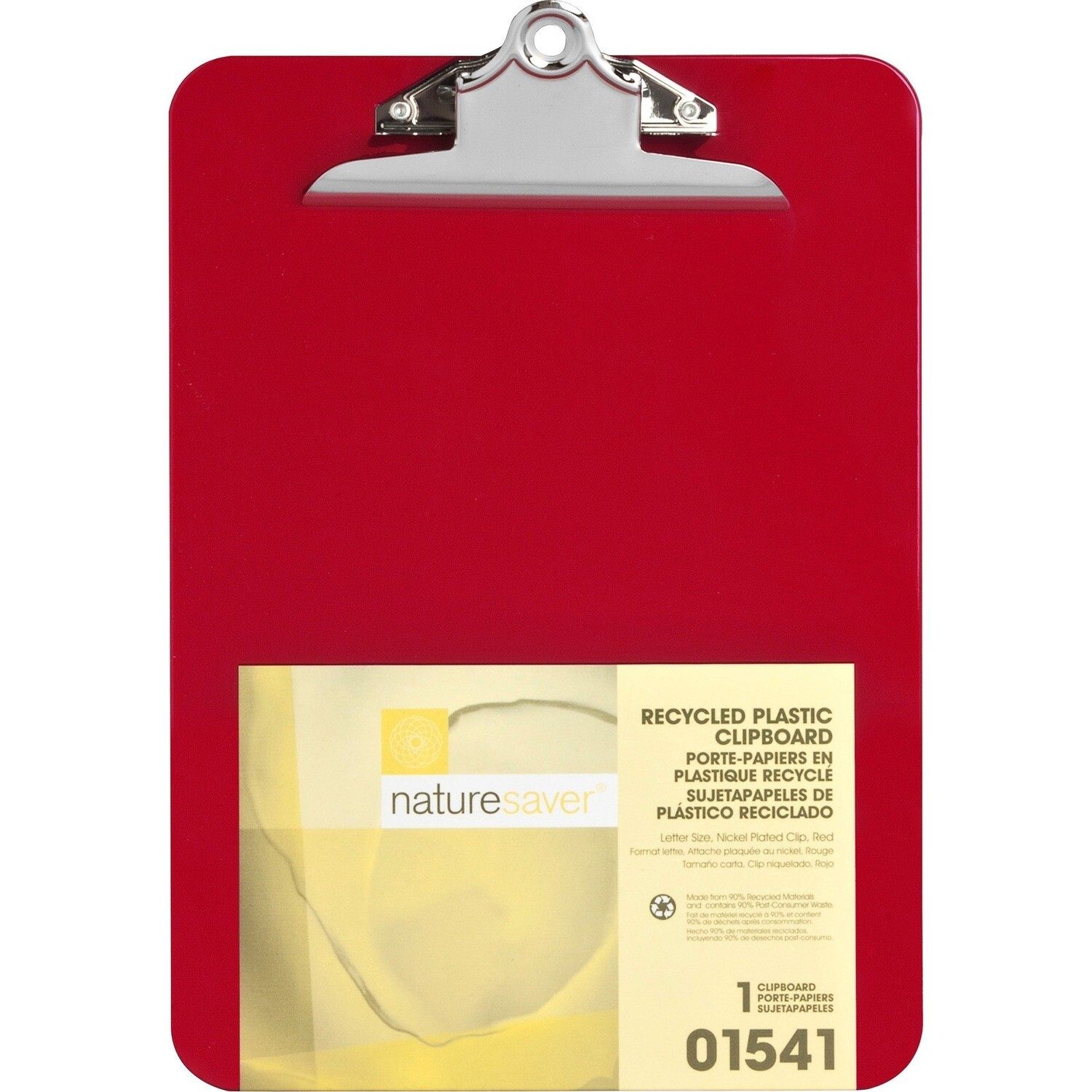 Clipboard, Letter, Recycled Plastic Red, Heavy Duty