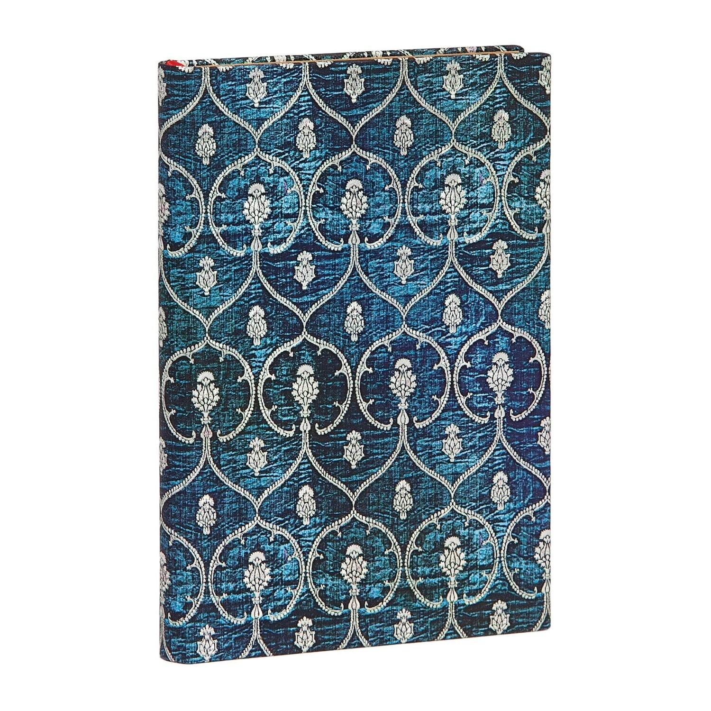 Journal, Unlined, Mini Hardcover Blue Velvet