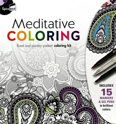Book Kit: Mindful Color & Gift Cards Meditative Colouring