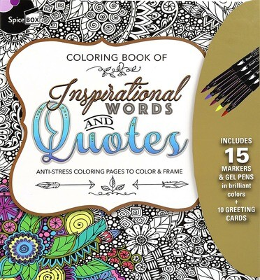 Book Kit: Sketch Plus Deluxe Inspirational Words & Quotes