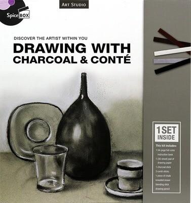 Book Kit: Art Studio Drawing W Charcoal & Conte
