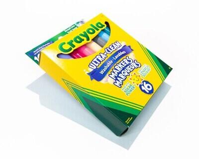Markers 16Pk Washable Crayola