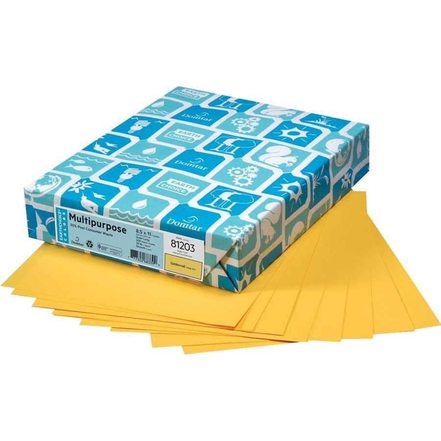 Paper, 20lb, Letter Goldenrod, 500 Pack, Earthchoice