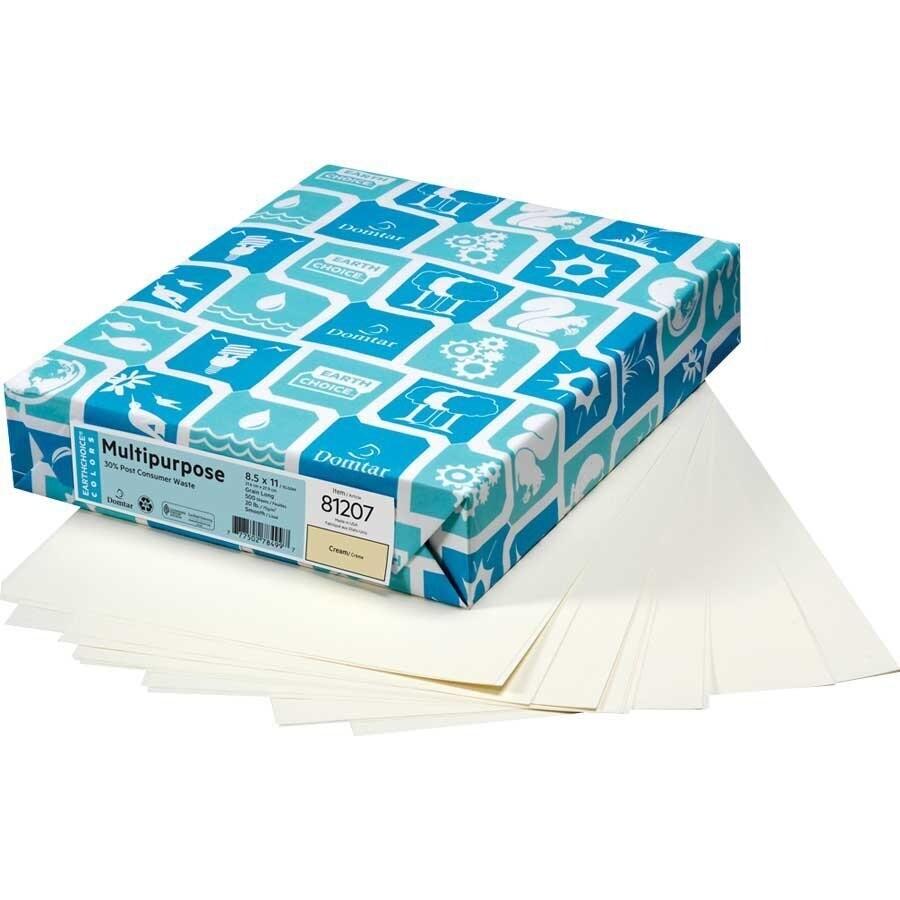 Paper, 20lb, Letter Cream, 500 Pack, Hammermill