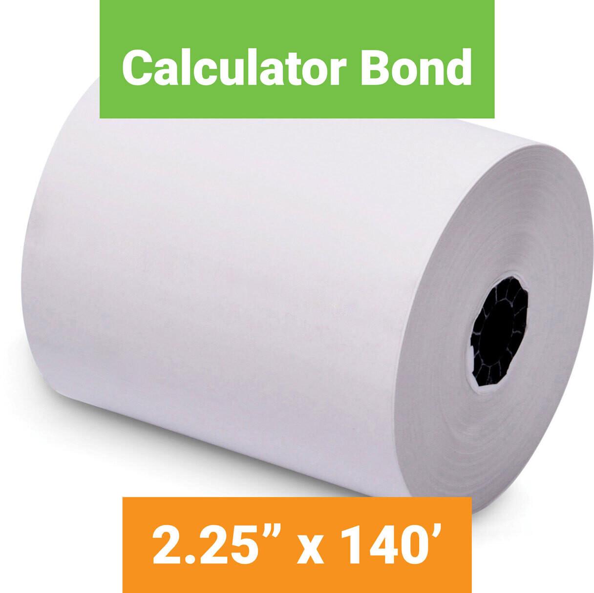 "Paper, Calculator Bond, 2.25"" x 140' White, 50 Pack"