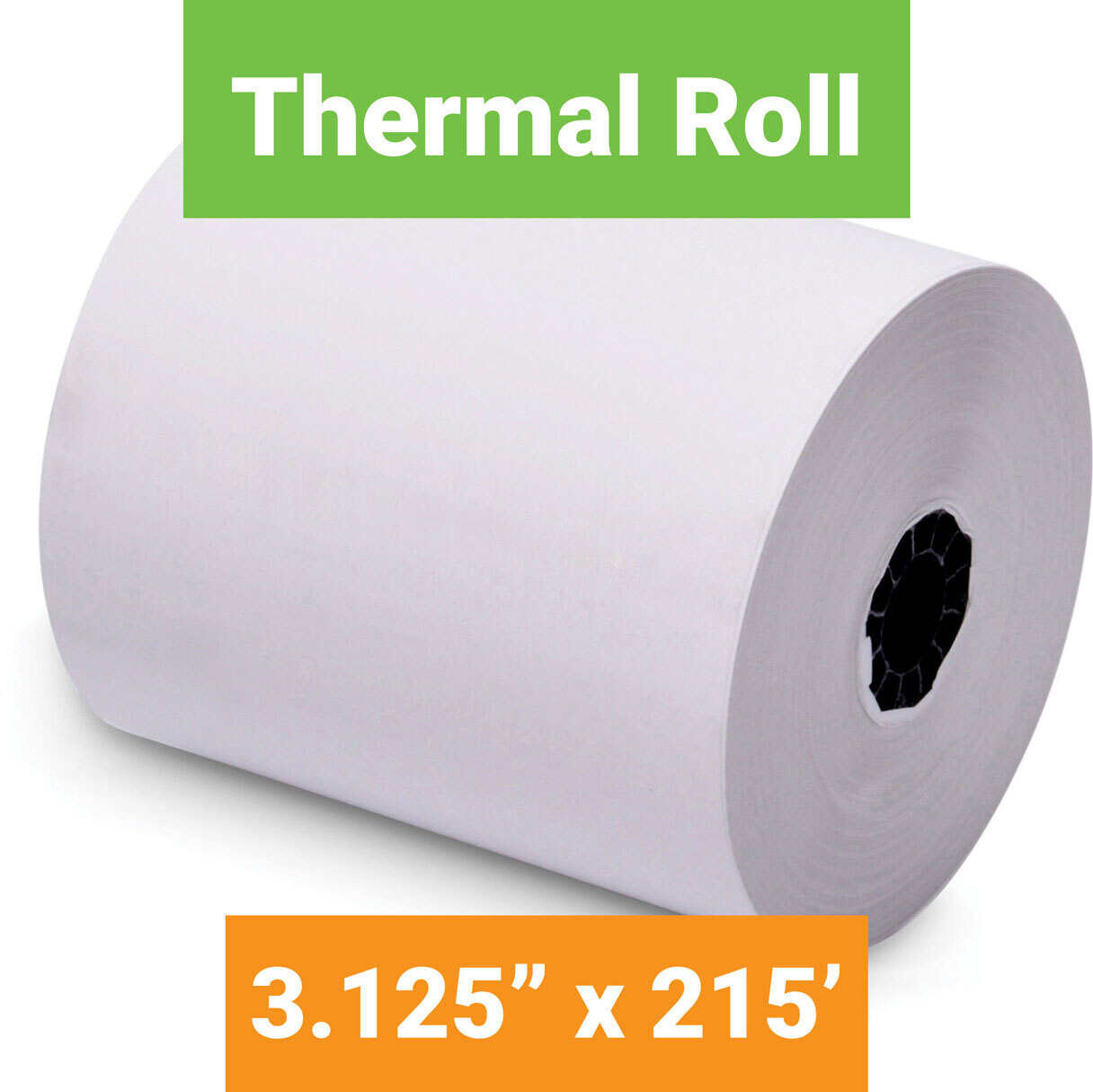 """Paper, Thermal, 3.125"""" x 215' White, 50 Pack"""