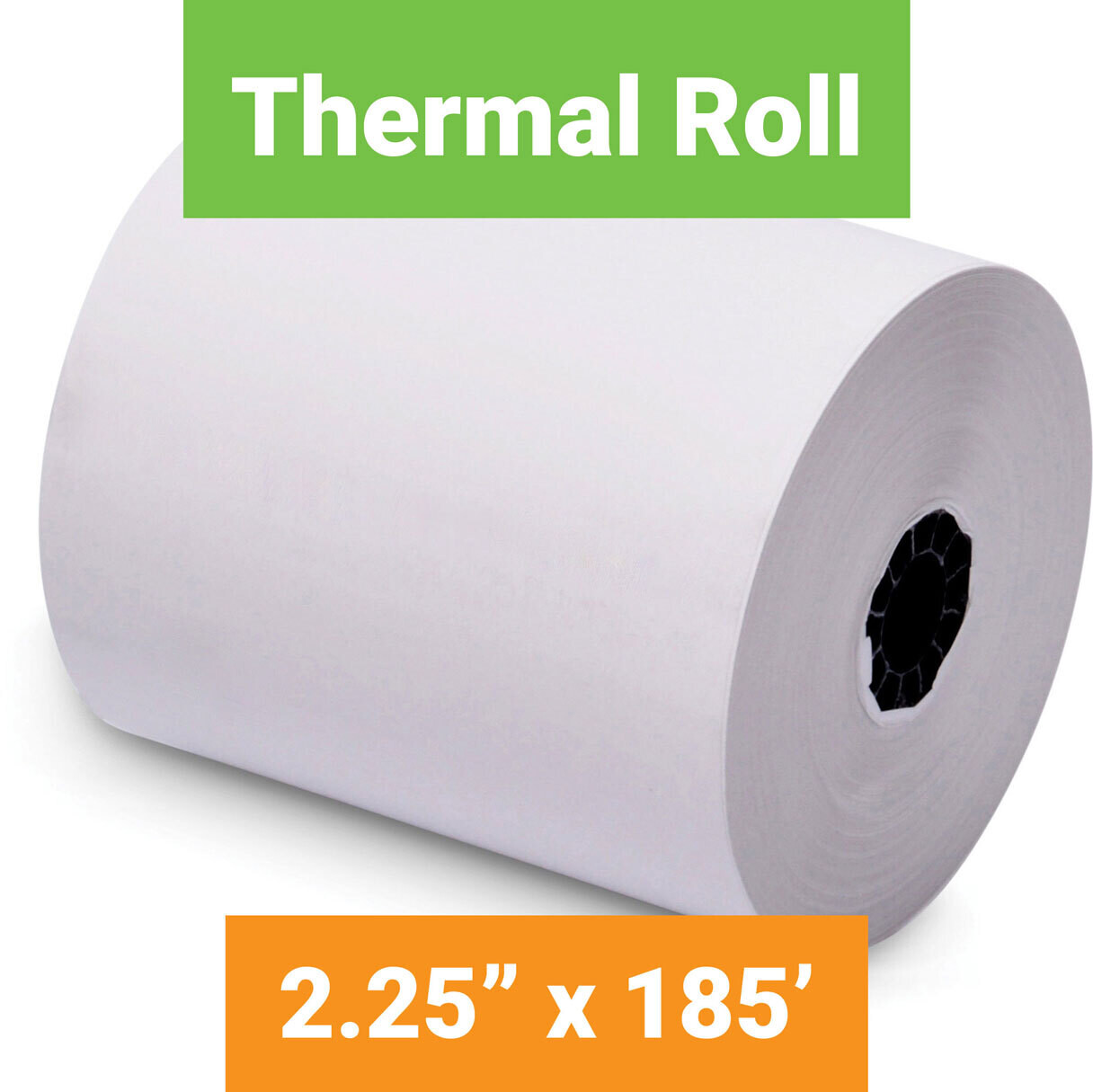 """Paper, Thermal, 2.25"""" x 185' White, 50 Pack"""