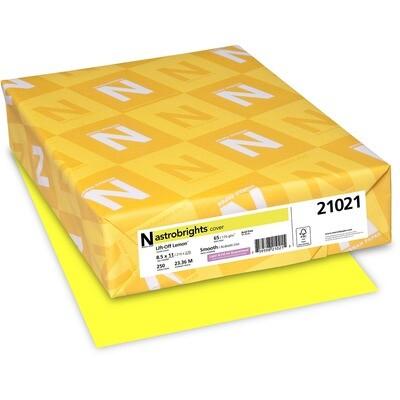 Cardstock, 65lb, Letter Lift Off Lemon, 250 Pack, Astrobright