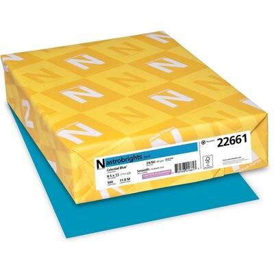 Cardstock, 65lb, Letter Celestrial Blue, 250 Pack, Astrobright
