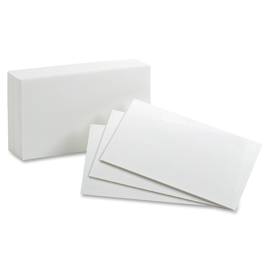 """Index Cards, 4""""x6"""" White,100 Pack, Oxford"""