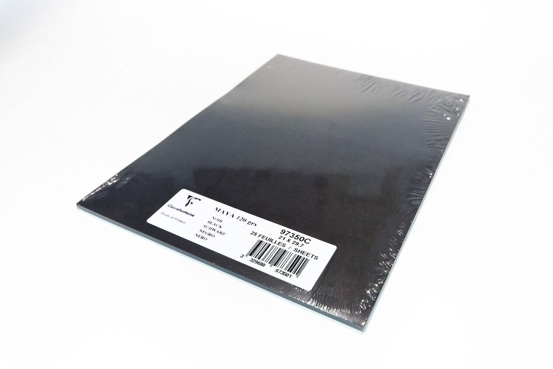 Cardstock, Maya, 54Lb Black, A4, 25 Pack