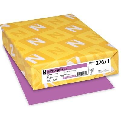 Cardstock, 65lb, Letter Planetary Purple, 250 Pack, Astrobright