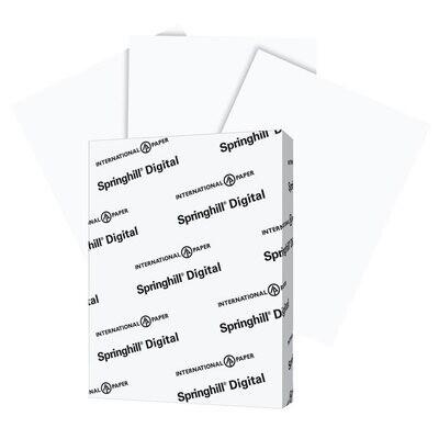 Cardstock, 110lb, Letter White, 250 Pack, Springhill