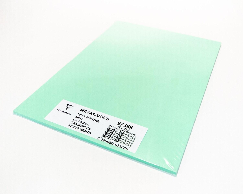 Cardstock, Maya, 54Lb Mint Green, A4, 25 Pack