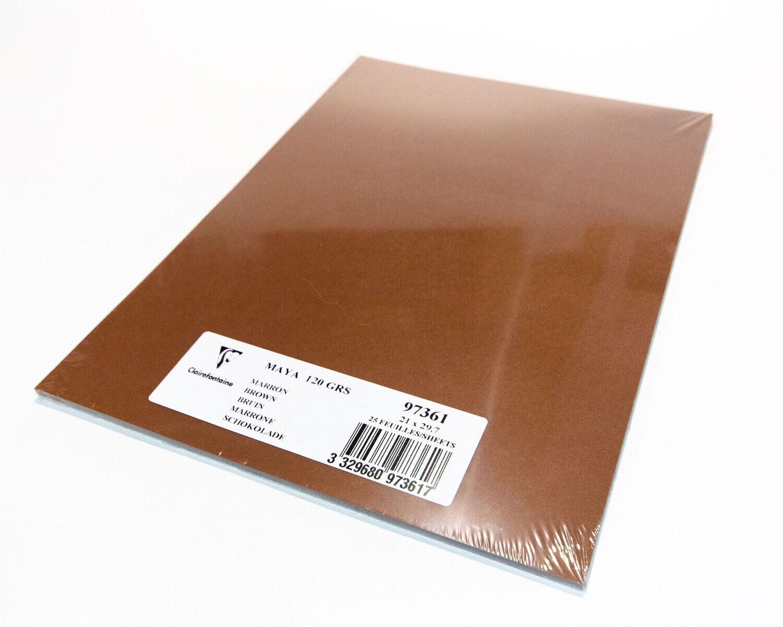 Cardstock, Maya, 54Lb Brown, A4, 25 Pack