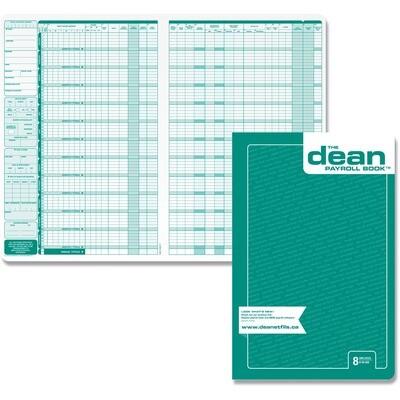 8 Employees Payroll Book, Dean & Fils