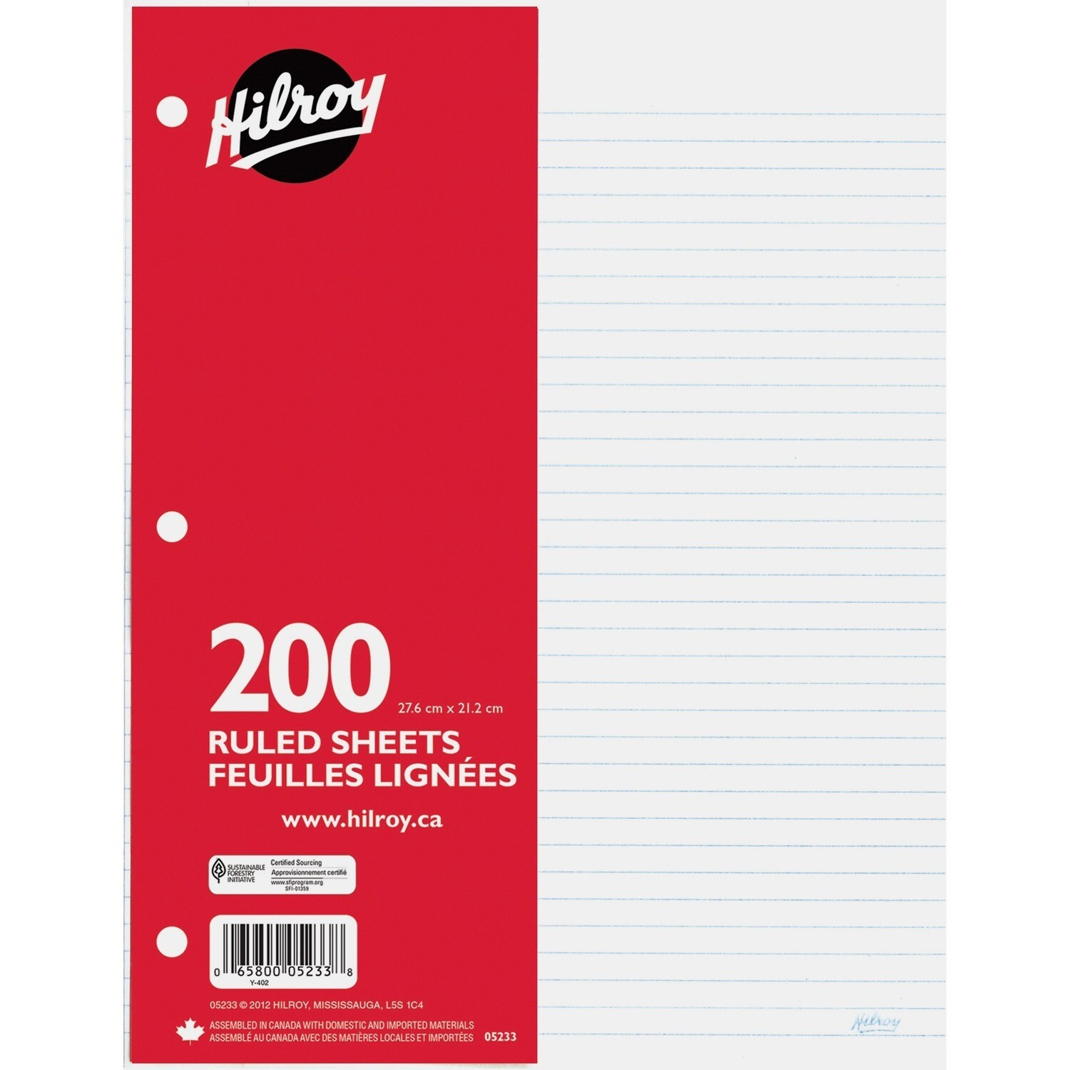 Paper, Lined, Refill 200 Pack, Hilroy