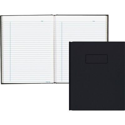 "Business Book, 9 1/4"" x 7 1/4"" Black, 192 Pages, Blueline"