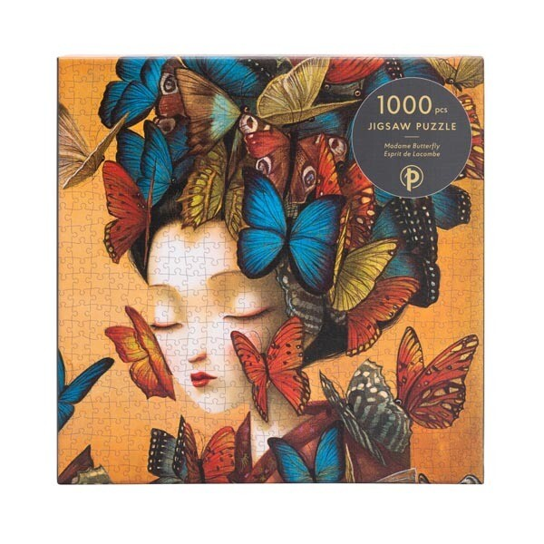 """Puzzle, Madame Butterfly 1000 Pieces, 20"""" x 27.5"""""""