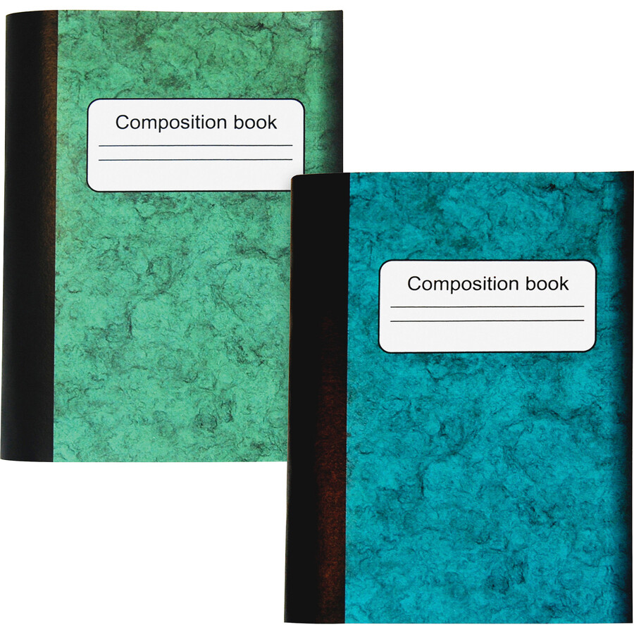 """Composition Book, Lined, 4 1/2"""" x 3 1/4""""  Assorted Colours, 4 Pack, Sparco"""