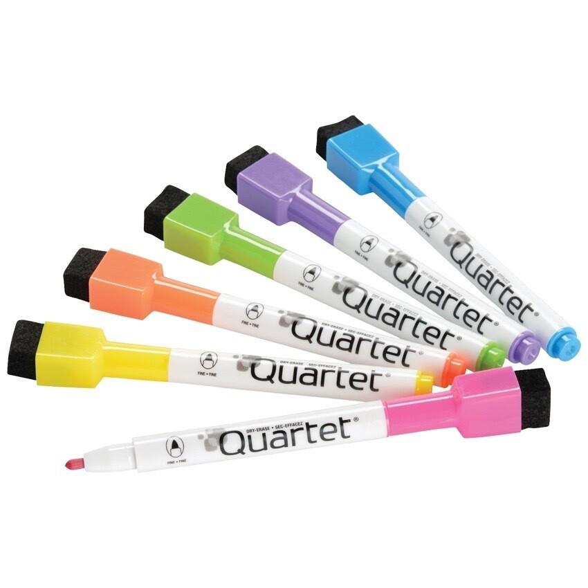 Marker, Whiteboard, Fine Bright, Single, Quartet