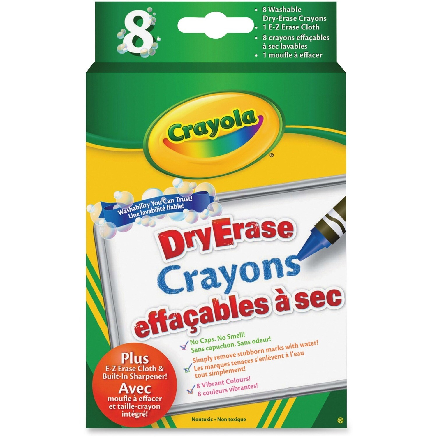 Crayon, Whiteboard, Fine Assorted Colours, 8 Pack, Crayola