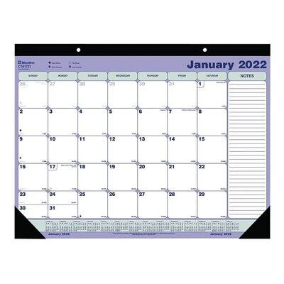 "Calendar, Monthly, Desk Pad, 21 1/4"" x 16"""