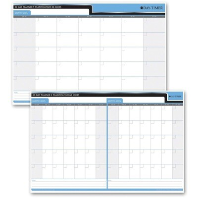"Calendar, 30/60 Day, 24"" x 36"" Undated, Day-Timer"
