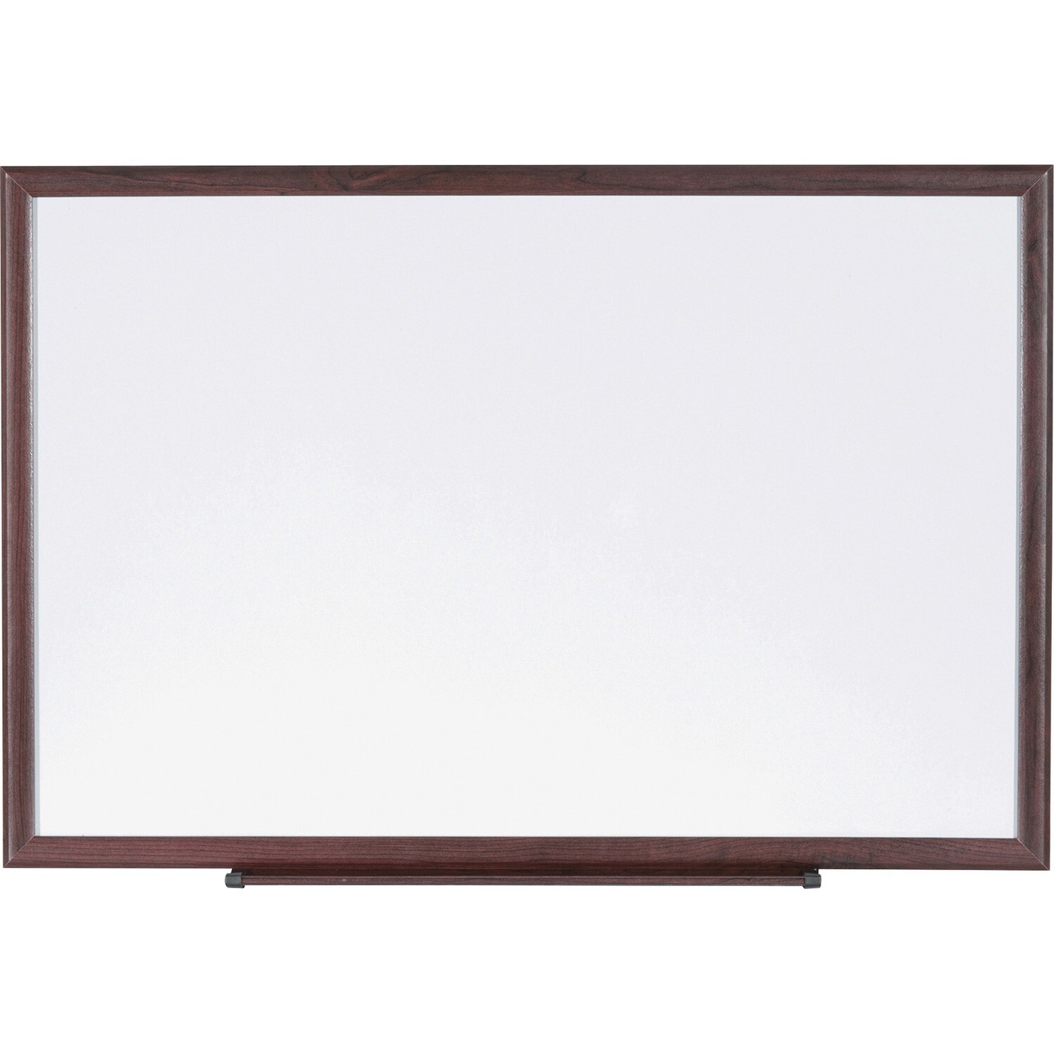 """Whiteboard, 24"""" x 36""""  Wooden Frame, With Tray, Lorell"""