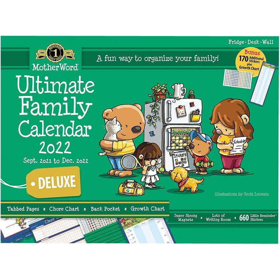 """Calendar, Ultimate Family, 13.5"""" x 18"""" with Stickers"""
