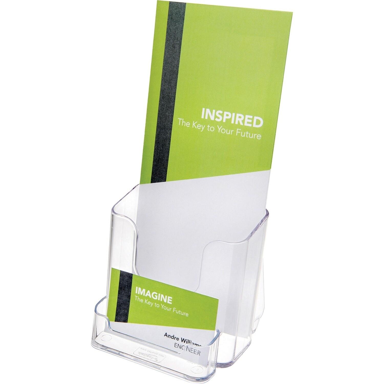 Document holder Brochure + Business Card, Clear, Deflecto