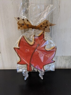 Red Maple Leaf Cookie