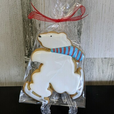 Skating Polar Bear Cookie