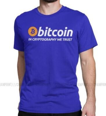 Men's Bitcoin In Cryptography We Trust T Shirt