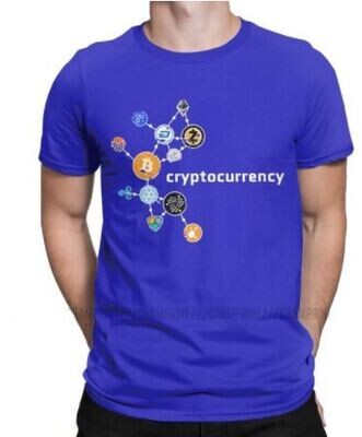Cryptocurrency T Shirt Men's Casual T-Shirts Crewneck Bitcoin Crypto Btc Blockchain Geek Tee Shirt Short Sleeve Clothes Summer
