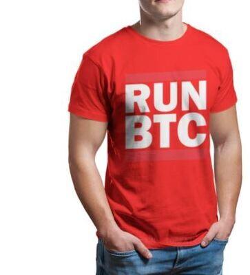 Bitcoin Cryptocurrency Miners Meme Crewneck TShirts RUN BTC Distinctive Men's T Shirt Funny Tops Size S-6XL