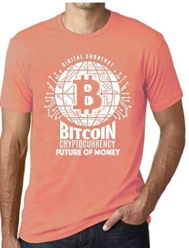 Ultrabasic Men's Graphic T-Shirt Bitcoin Future of Money T-Shirt HODL BTC Tee Crypto Gift Idea