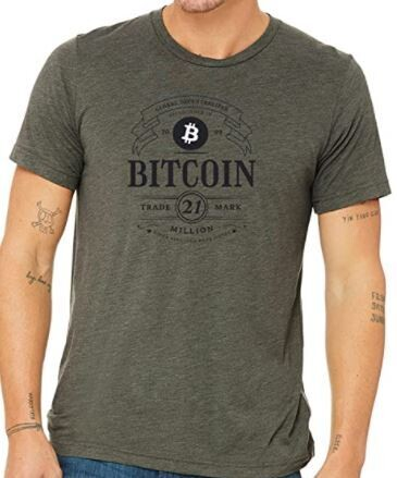 Bitcoin 21 Million Vintage T-Shirt No.15 Military Green