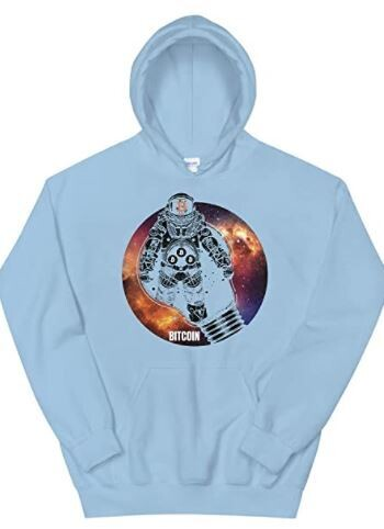 Bitcoin Abstract Light Bulb Space Hoodie,