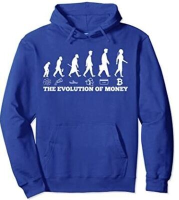 The evolution of money bitcoin btc crypto cryptocurrency Pullover Hoodie