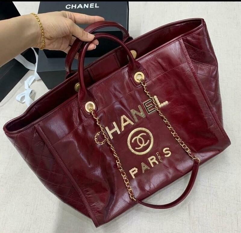 Red Handbag For Shopping