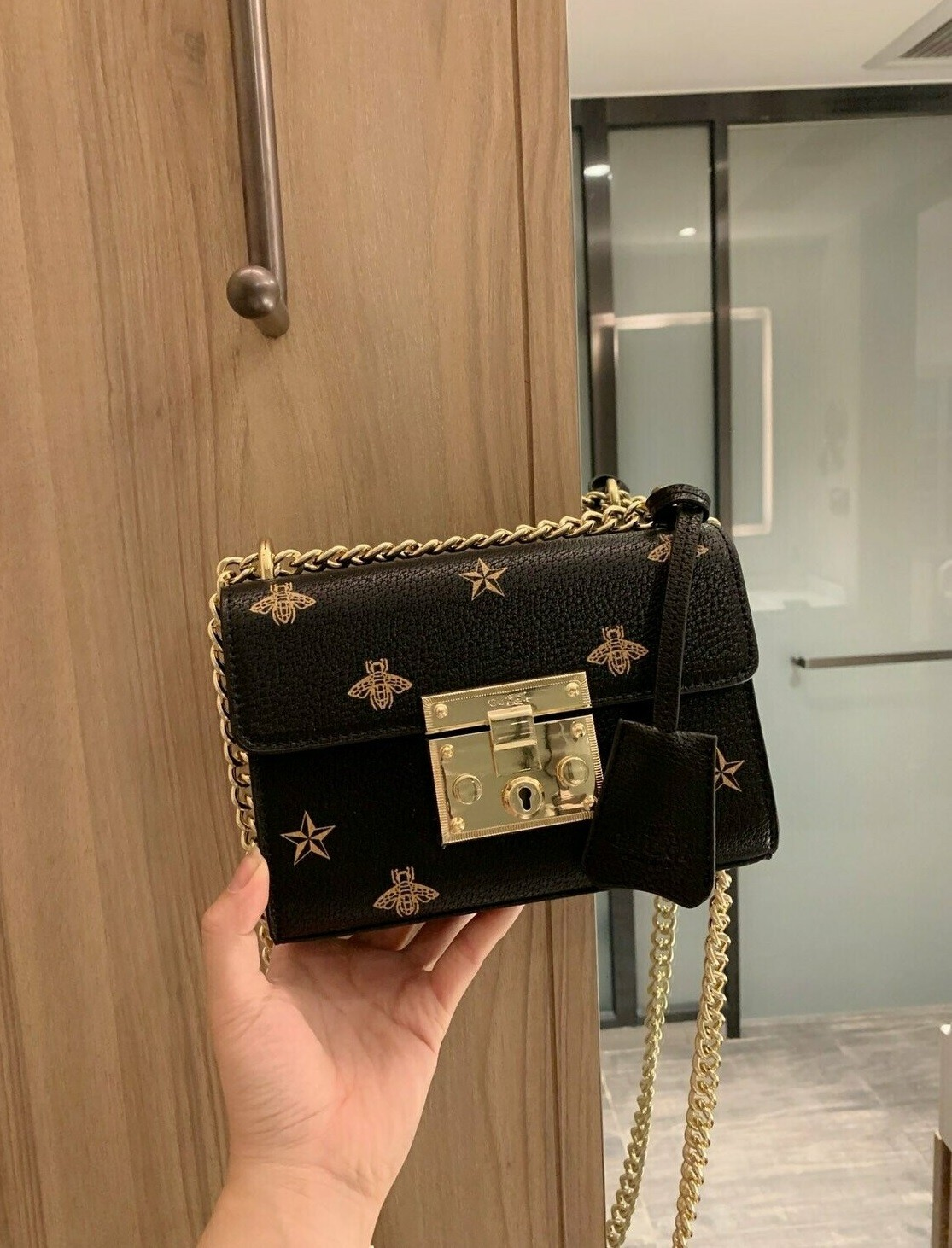 Small Black and White Shoulder Bag