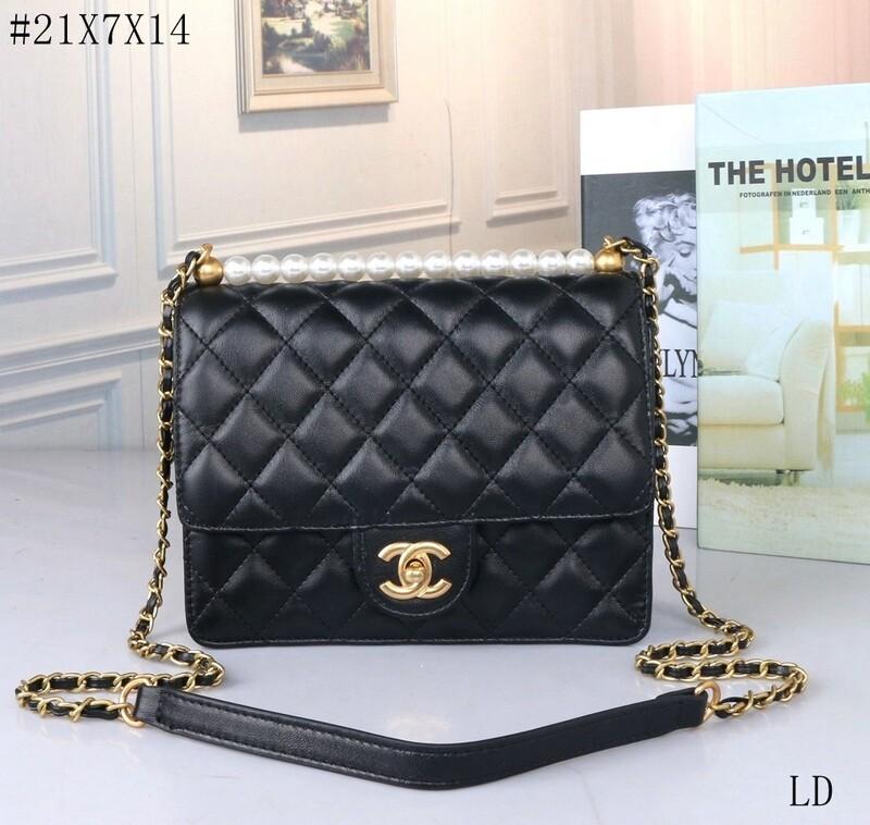 White and Black Chanel Shoulder Bag
