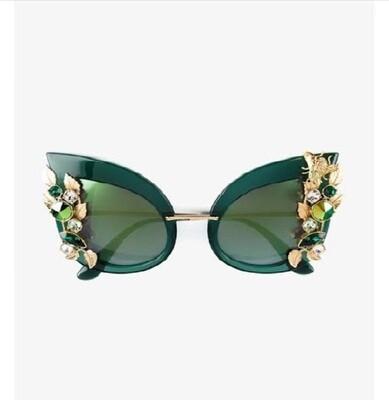 Dior Army Green Floral Gem Glasses