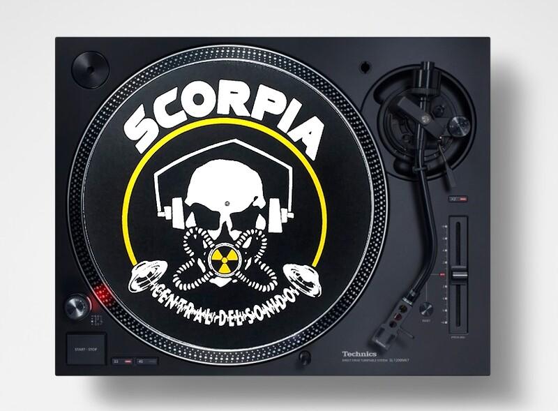Slipmats / Patinadores DJ - OLD SKULL (pareja)