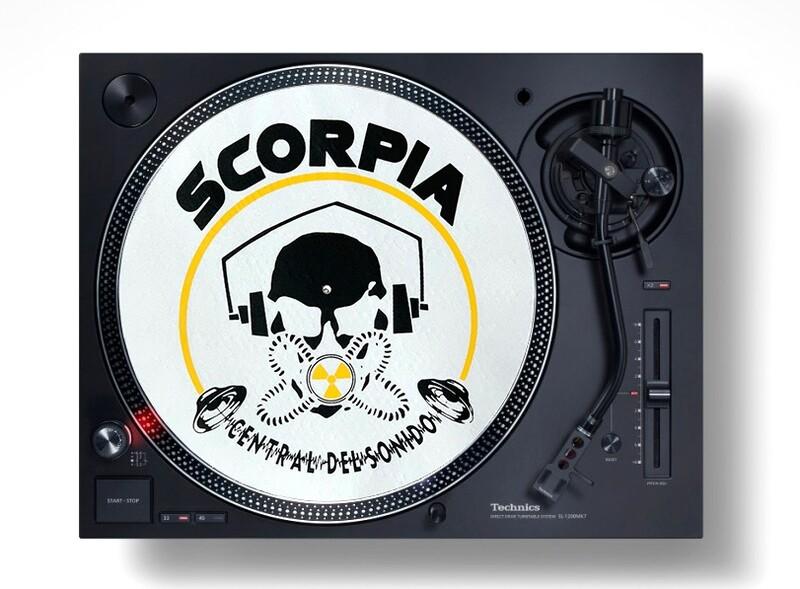 Slipmats / Patinadores DJ - OLD SKULL Blanco (pareja) ¡¡ EDICIÓN LIMITADA !!