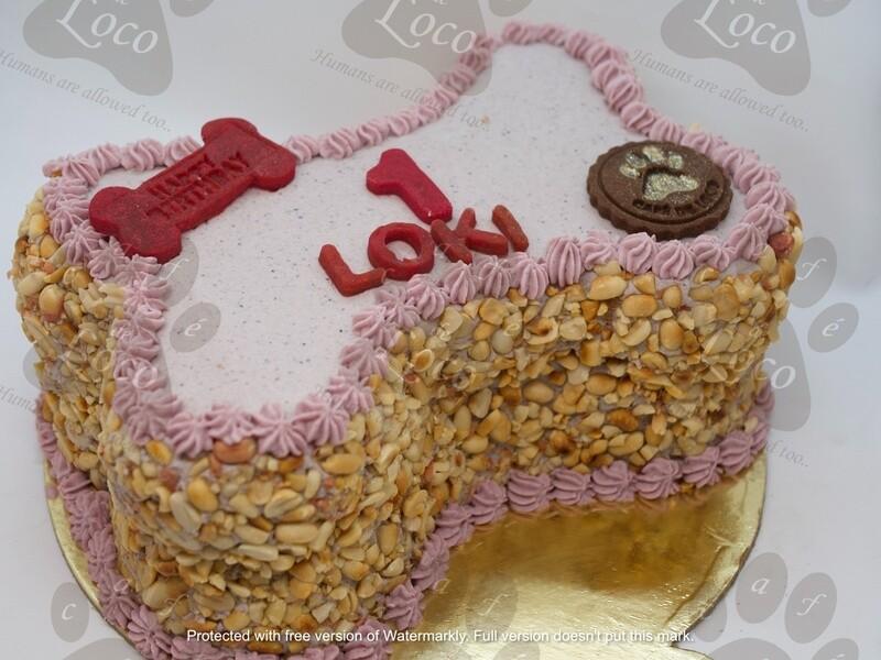 Bone Icing Dog Cake