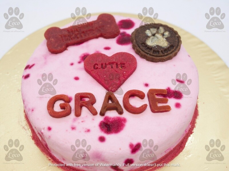 Round Icing Dog Birthday cake