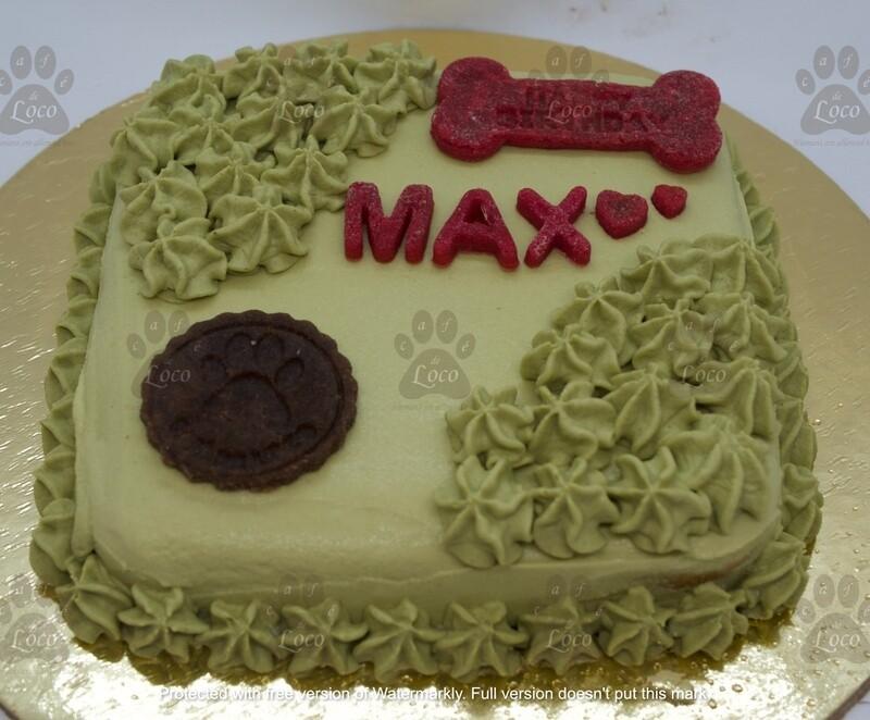 Square double Icing dog cake